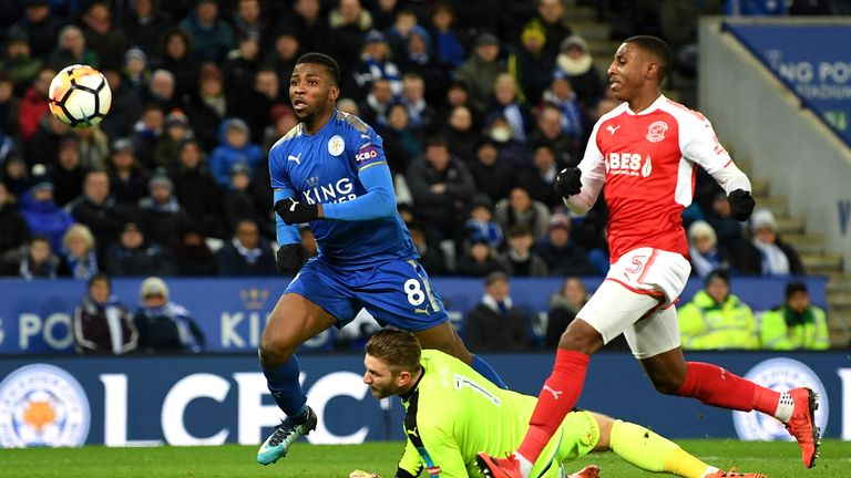 Kelechi Iheanacho puts Leicester two goals in front