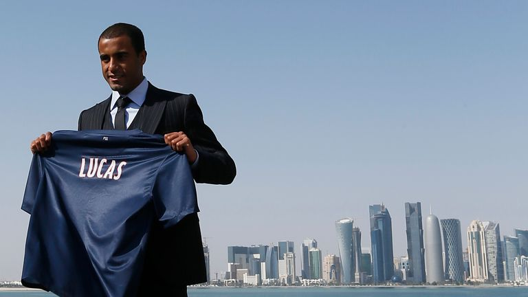 Moura was unveiled as a PSG player in Doha in January 2013
