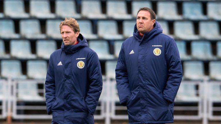 Scotland U21 manager Scot Gemmill (left) is favourite for the job