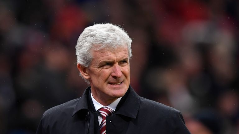 Mark Hughes during the 1-0 home defeat to Newcastle United on New Years day