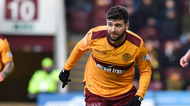 Nadir Ciftci makes his debut for Motherwell in the 2-0 Scottish Cup win over Hamilton Accies at the weekend.