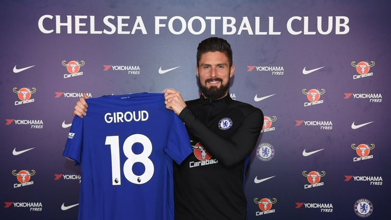 Olivier Giroud Completes Move From Arsenal To Chelsea Football News Sky Sports