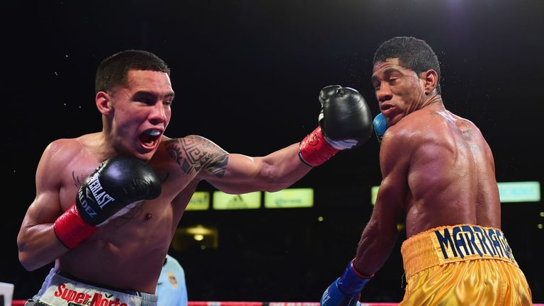 Oscar Valdez saw off Colombian Miguel Marriaga in his second defence last year