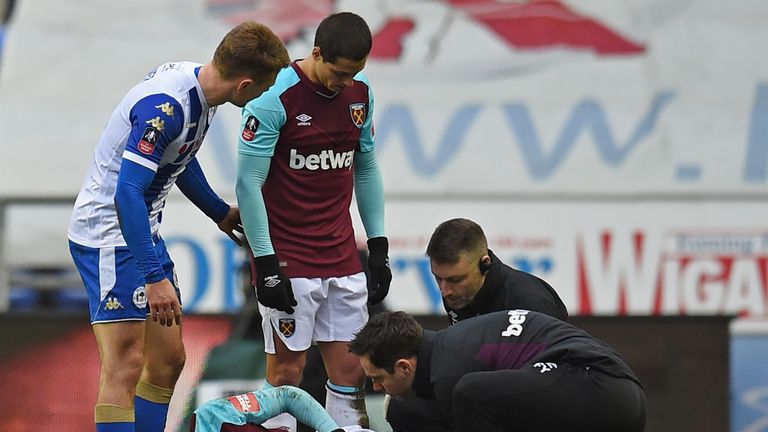 Obiang sustained the injury in their FA Cup fourth round defeat to Wigan