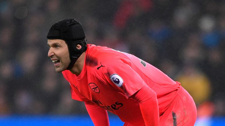 Cech has worn a head guard since fracturing his skull in 2006