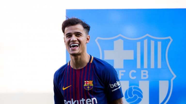 Philippe Coutinho completed his move to Barcelona on Monday