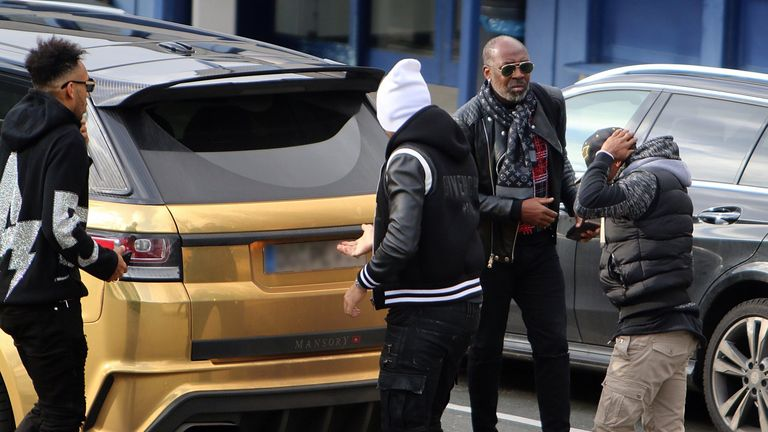 Pierre-Emerick Aubameyang pictured at Dortmund airport on Tuesday afternoon. Credit: Florian Groeger @RN_Florian