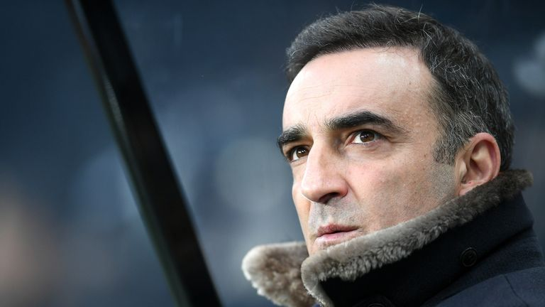Carlos Carvalhal has managed Swansea to eight wins, eight defeats and eight draws in his 24-match reign at the Liberty Stadium
