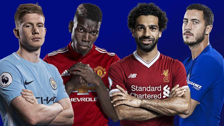 Sky Sports Premier League - Kevin De Bruyne, Paul Pogba, Mohamed Salah, Eden Hazard