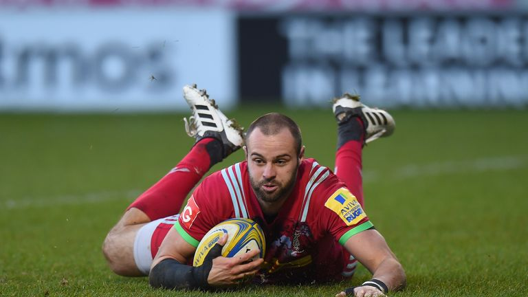 Ross Chisholm scored Harlequins' third try of the game