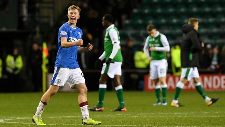 McCrorie celebrates Rangers' win over Hibernian