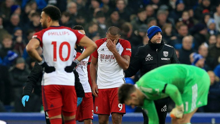 Salomon Rondon was distraught after James McCarthy's injury