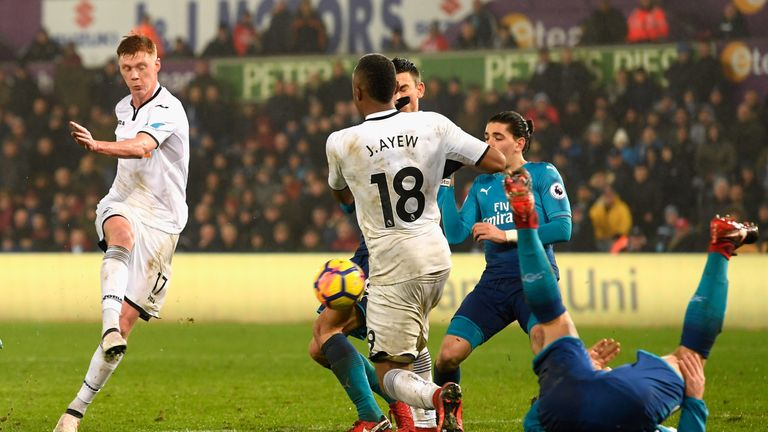 Arsenal were beaten 3-1 at Swansea on Tuesday night