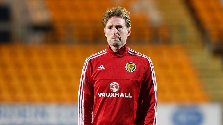 10/11/17 UEFA EUROPEAN U21 CHAMPIONSHIP QUALIFIER  SCOTLAND U21 vs LATVIA U21 (1-1)  MCDIARMID PARK - PERTH  Scotland U21 head coach Scot Gemmill