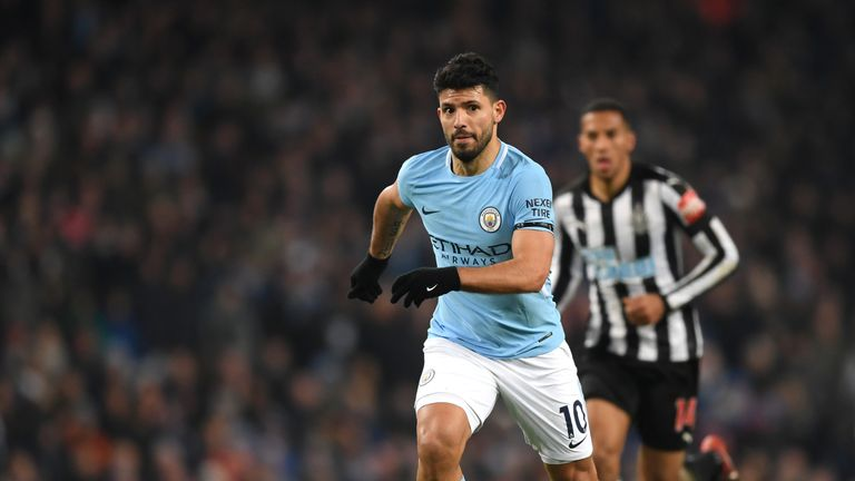 Sergio Aguero scored a hat-trick in Manchester City's 3-1 defeat of Newcastle