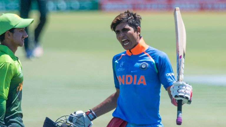 Shubman Gill hit a century as India reached the Under-19 World Cup final