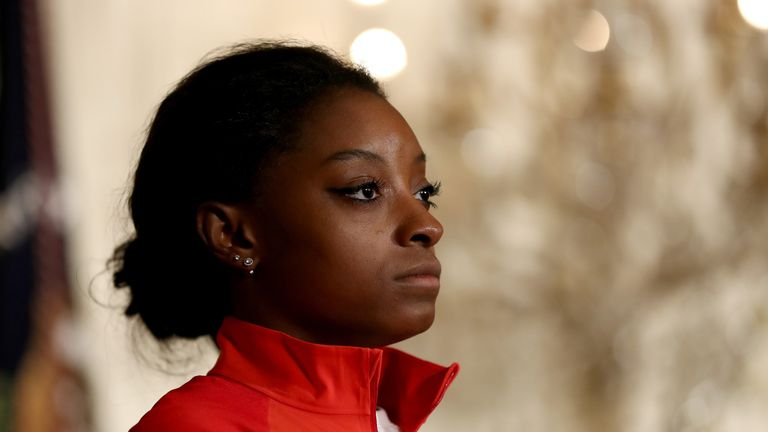 Simone Biles was critical of the appointment of Mary Bono