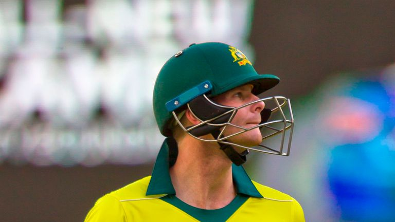 Steve Smith's highest score of 45 came in the third ODI in Sydney