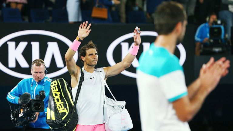 Nadal was forced to retire due to injury against Marin Cilic in Australia