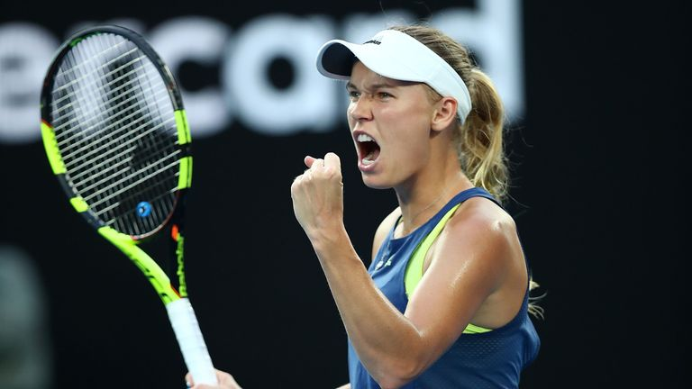 The Dane outlasted Halep in a marathon contest on Rod Laver Arena