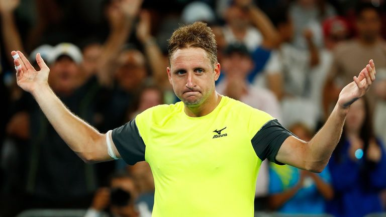 Tennys Sandgren upset Dominic Thiem to set up an unlikely quarter-final clash against Chung