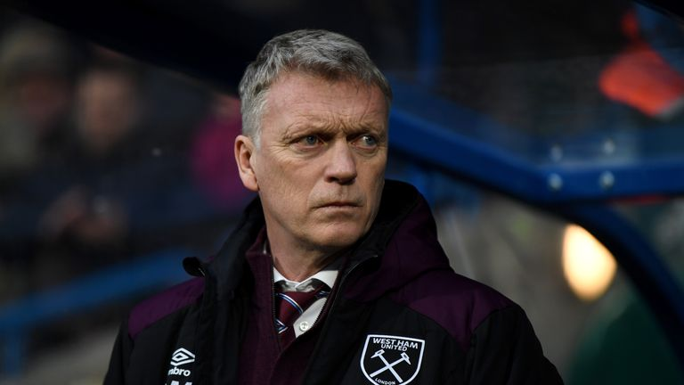 HUDDERSFIELD, ENGLAND - JANUARY 13:  West Ham United manager David Moyes during the Premier League match between Huddersfield Town and West Ham United at J