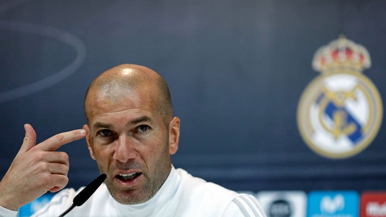 Zinedine Zidane's Real Madrid face PSG in the Champions League last 16