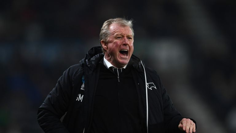 Steve McClaren during his most recent spell of football management with Derby County