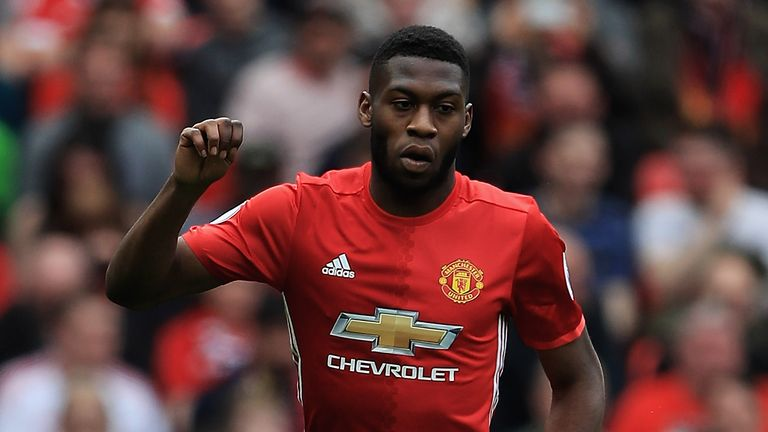 Tim Fosu-Mensah playing for Manchester United last season