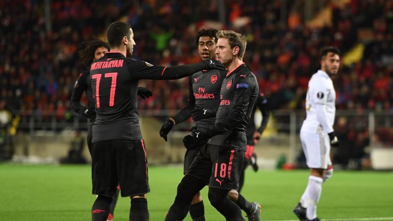 Arsenal secured a comfortable 3-0 win over Ostersunds FK in the Europa League