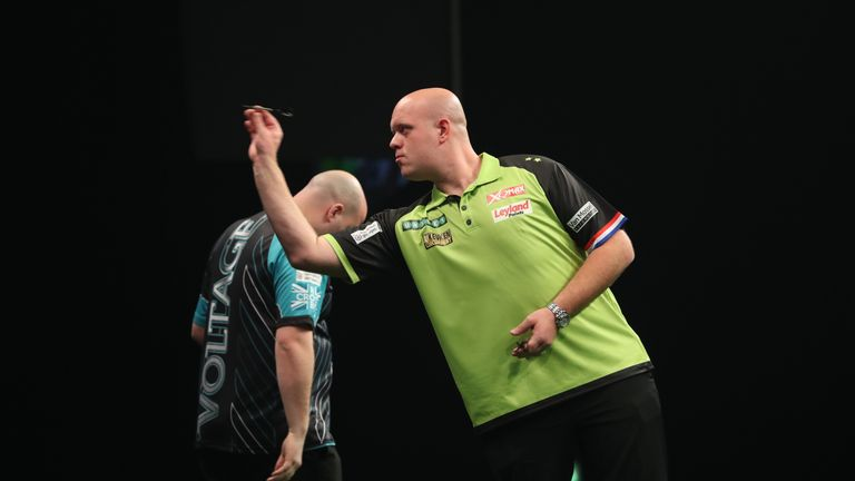 MVG avenged his Ally Pally defeat to Cross by thrashing the world champion 7-2 in week one