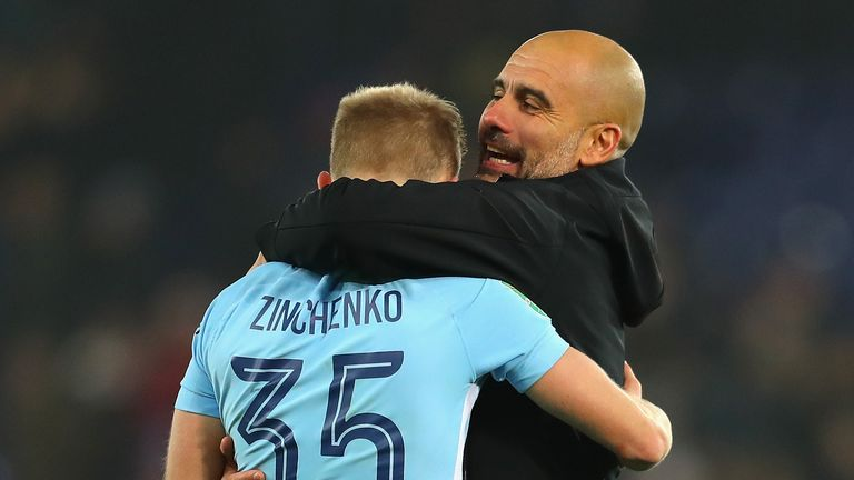 Pep Guardiola has used Oleksandr Zinchenko as an inverted full-back