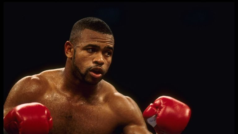 25 Jun 1995:  Boxer Roy Jones Jr.  stands and delivers some punches against opponent Vinny Pazienza. Jones retained his International Boxing Federation Sup