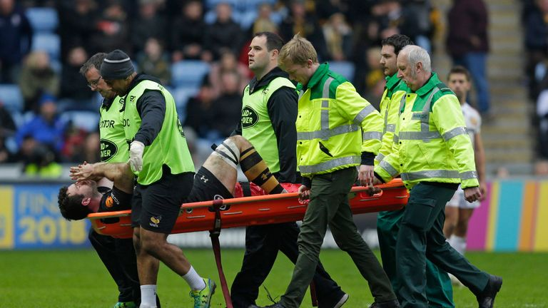 Alex Rieder was the fourth Wasps player to leave injured after Danny Cipriani (ankle), Watson (leg) and flanker Jack Willis (shoulder)