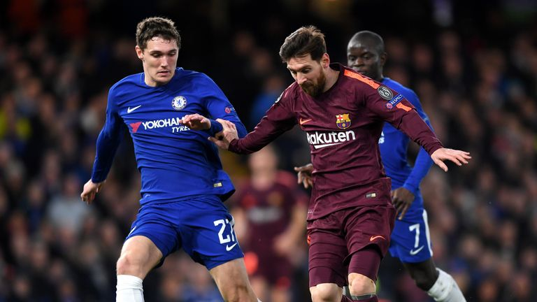 Conte said Christensen's performance against Barcelona was 'wonderful', despite his misplaced pass leading to Lionel Messi's goal