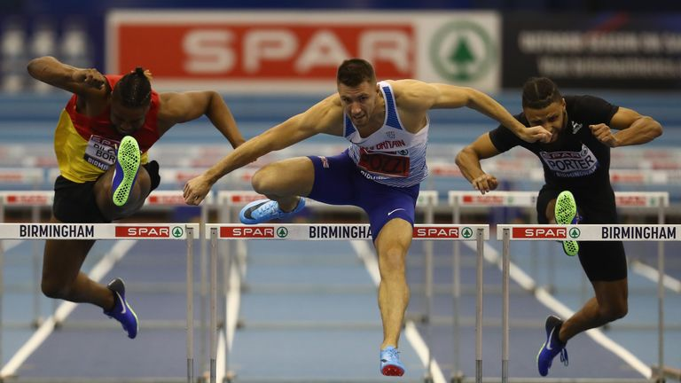 Andrew Pozzi storms home at the GB Indoor Championships in Birmingham