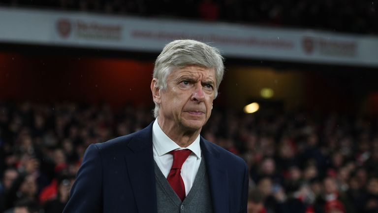 Arsene Wenger during the Premier League match between Arsenal and Everton at Emirates Stadium