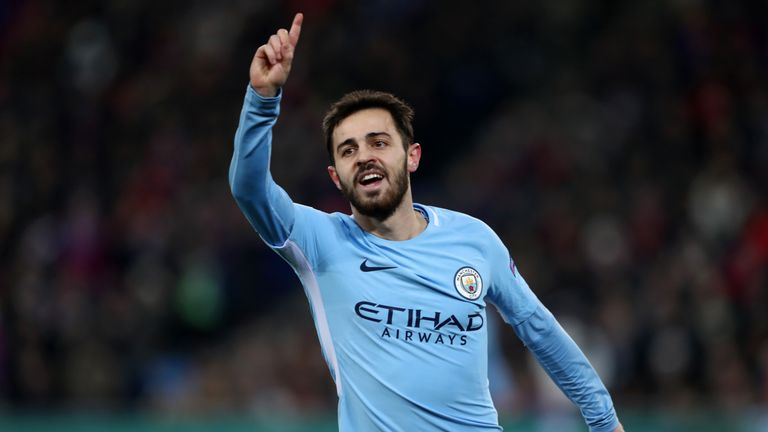 Bernardo Silva put City 2-0 up against Basel