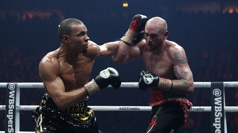 Groves suffered a dislocated shoulder in his win over Eubank Jr