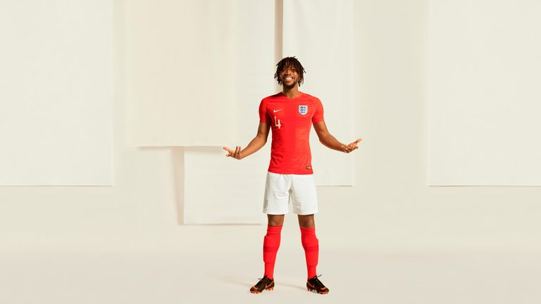 Nathaniel Chalobah was launching England's World Cup kit