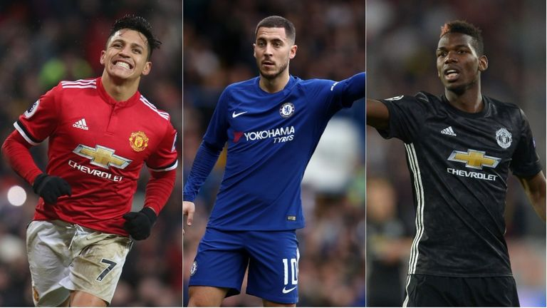Skysports.com readers have picked their Mancheter United-Chelsea combined XI