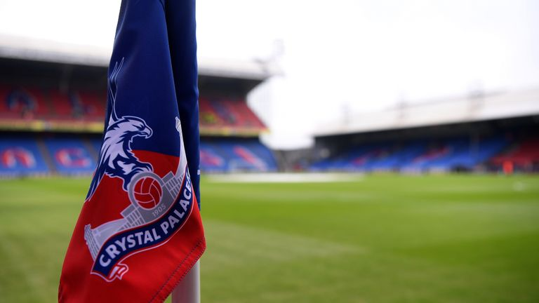 Pitch side at Selhurst Park, Crystal Palace's home of 93 years