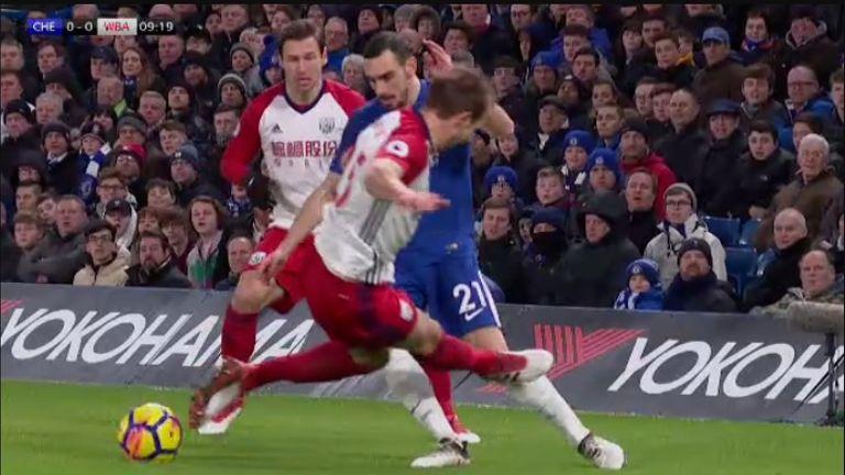 Craig Dawson's tackle on Davide Zappacosta