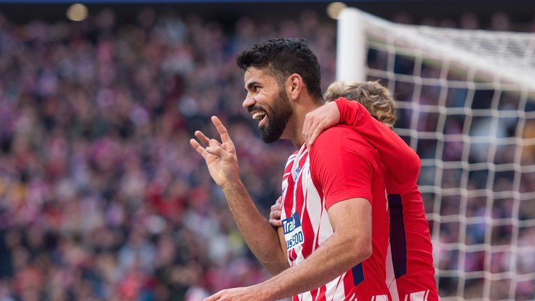 Diego Costa scored Atletico Madrid's second goal