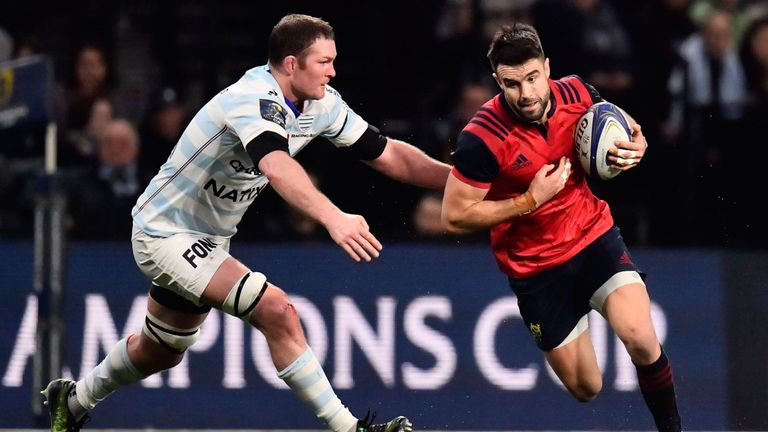 The Irishman played against his home province Munster at the U Arena in January