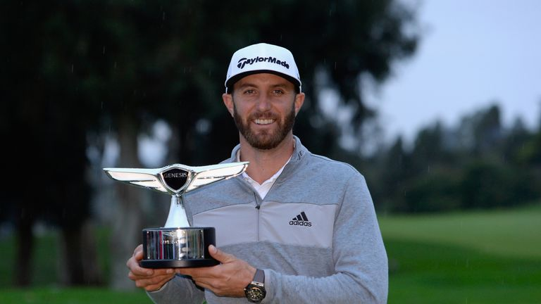 Dustin Johnson went to world No 1 after his win at Riviera last year