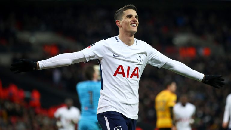 Erik Lamela scored Tottenham's second against Newport