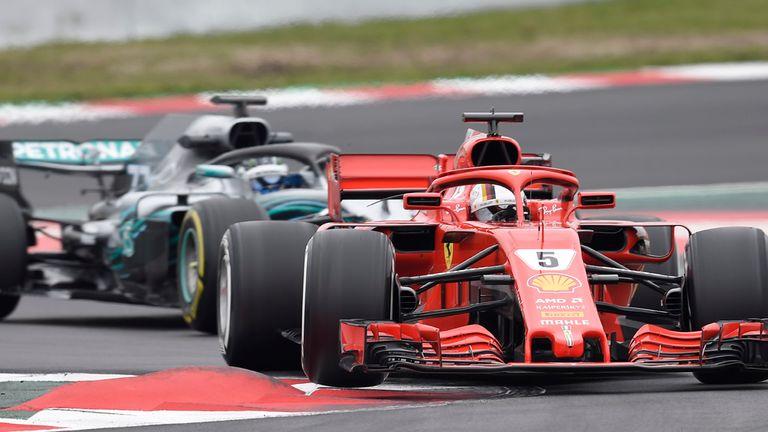 F1 2018 Testing Day Two Sebastian Vettel Puts Ferrari Above
