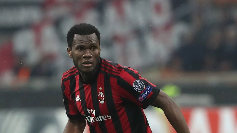 Franck Kessie in action for AC Milan