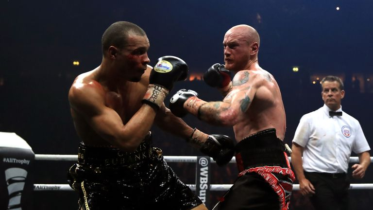 Chris Eubank (left) and George Groves